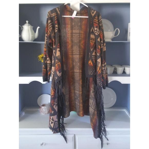 Xhilaration Sweaters - Tribal Design Duster Cardigan